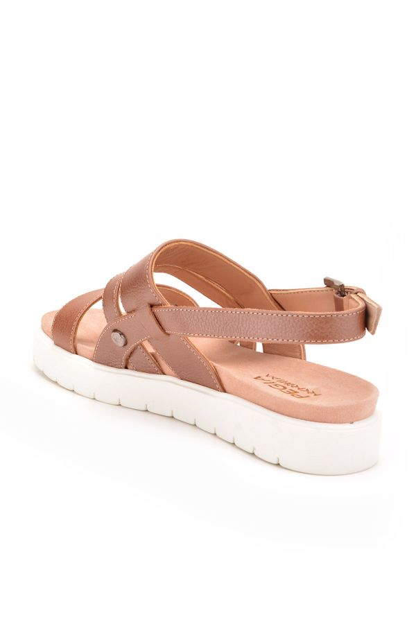 Pegia Gabrielle Women Sandals From Genuine Leather Powdery