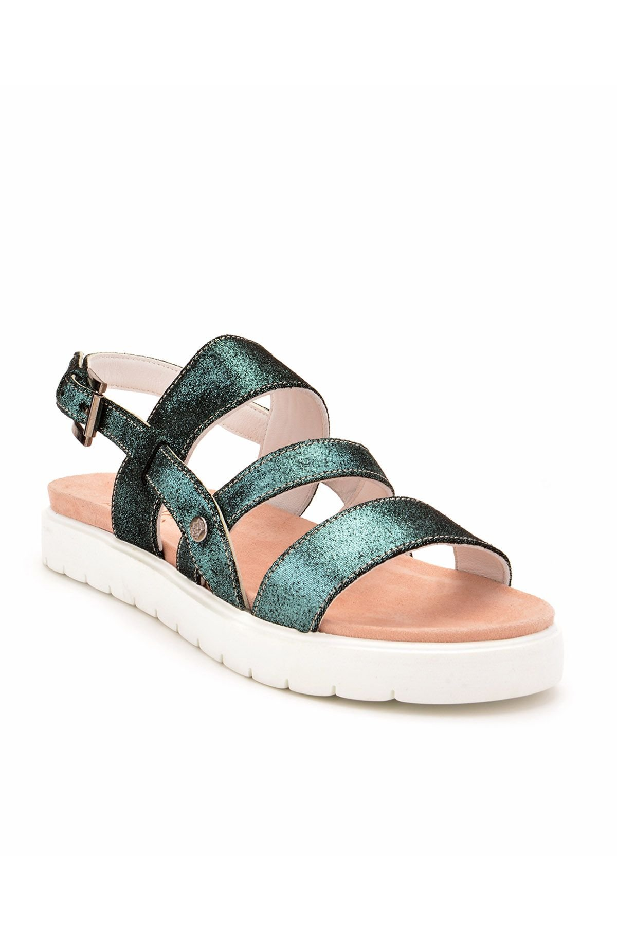Pegia Gabrielle Women Sandals From Genuine Leather Green