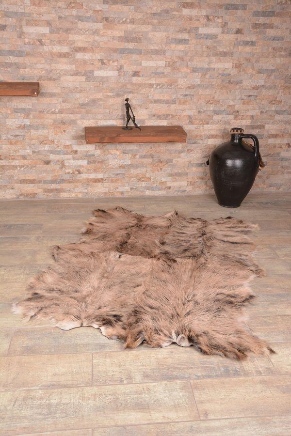 Erdogan Deri Decorative Rug From Genuine Toscana Fur Natural