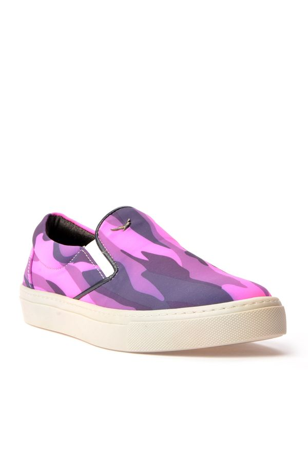 Art Goya Women Sneakers With Camouflage Pattern Pink