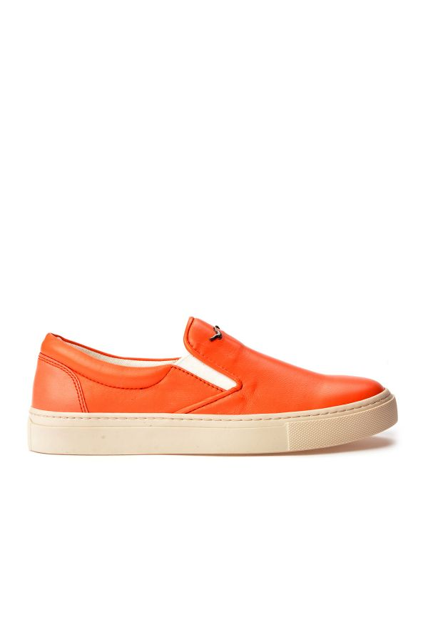 Art Goya Women Sneakers From Genuine Leather Orange
