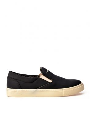 Art Goya Women Sneakers From Stretch-Cotton Black