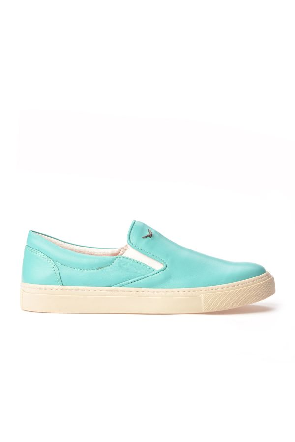 Art Goya Women Sneakers From Genuine Leather Turquoise