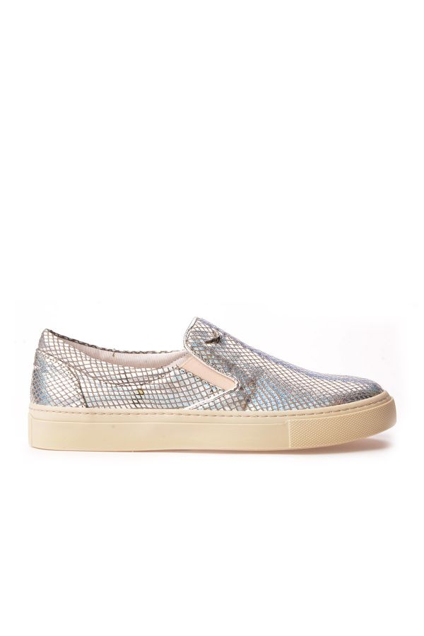 Art Goya Patterned Women Sneakers Silver