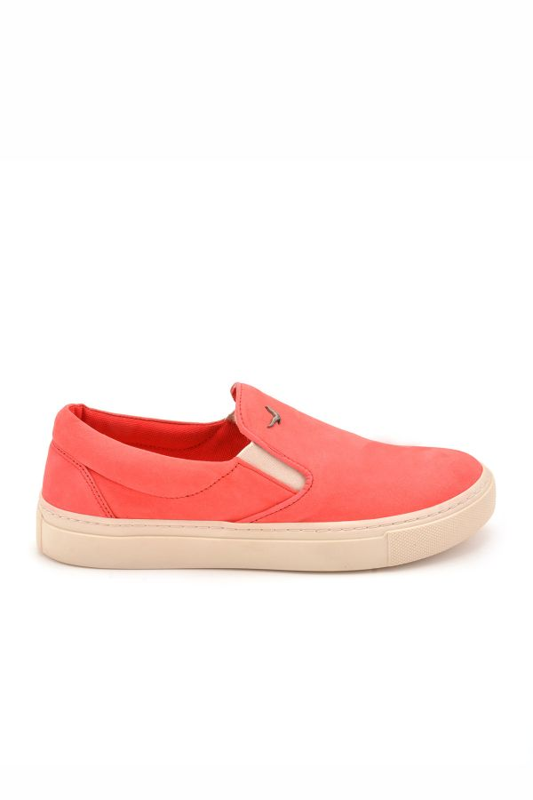 Art Goya Women Sneakers From Genuine Nubuck Magenta