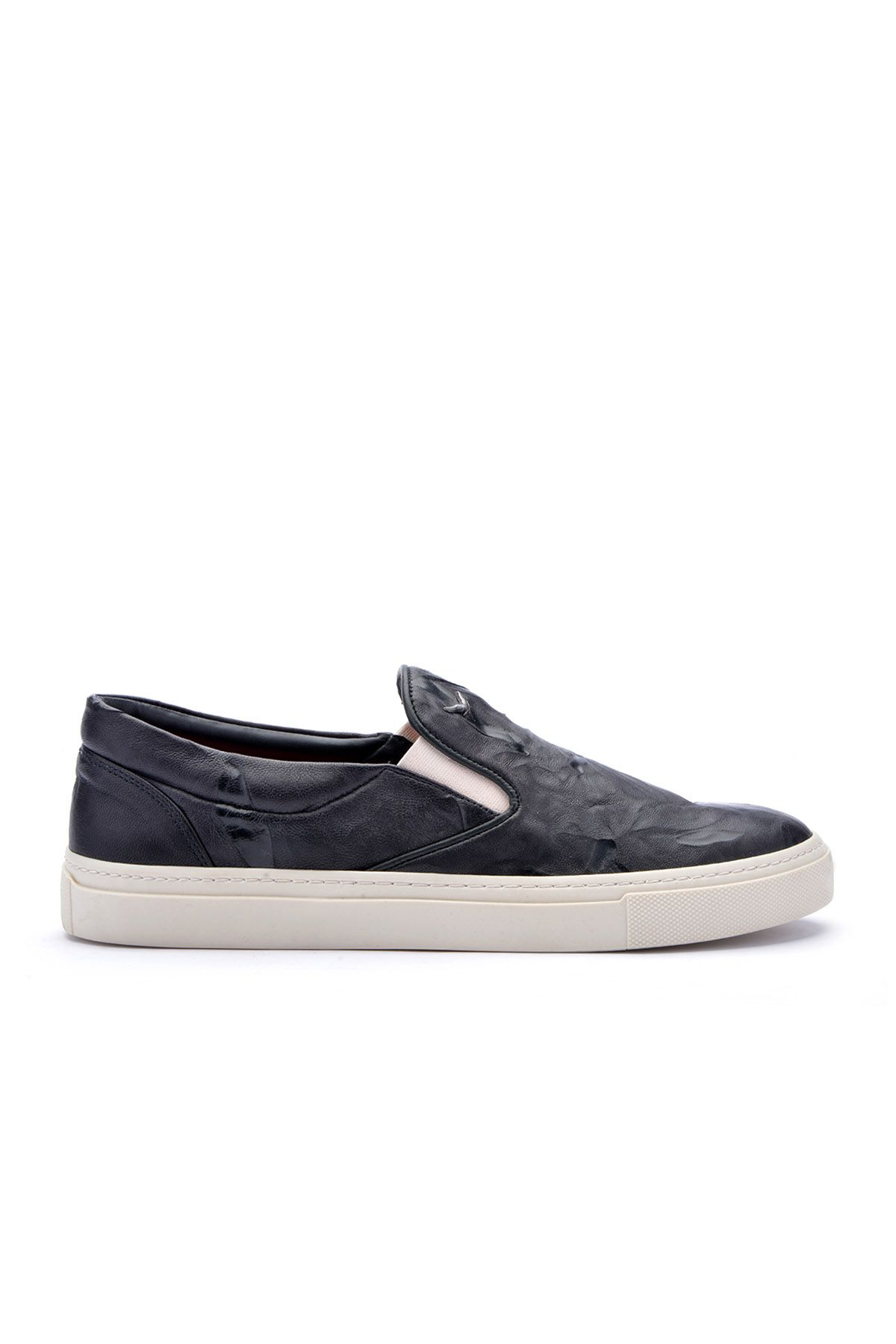 Art Goya Women Sneakers From Genuine Leather With Pattern Black