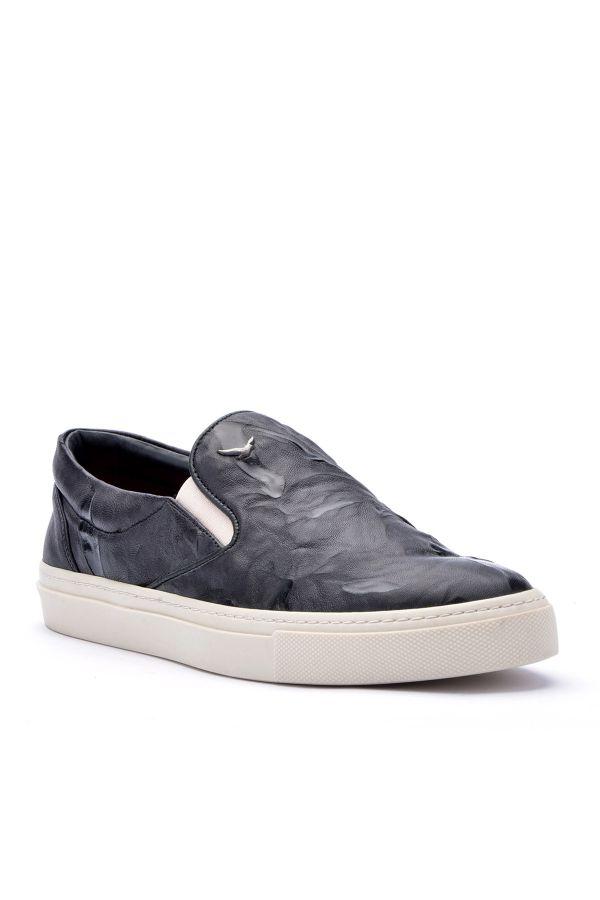 Art Goya Women Sneakers From Genuine Leather With Pattern Black