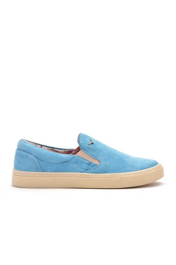 Art Goya Women Sneakers From Genuine Nubuck Blue