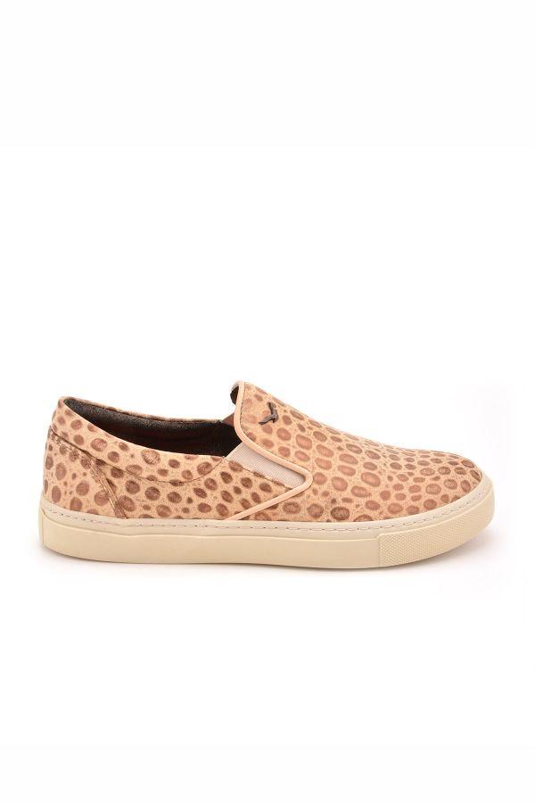 Art Goya Women Sneakers With Leopard Pattern Brown