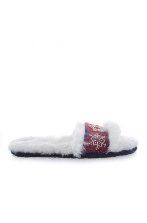 Pegia House-shoes From Genuine Fur & Cashmere Claret red
