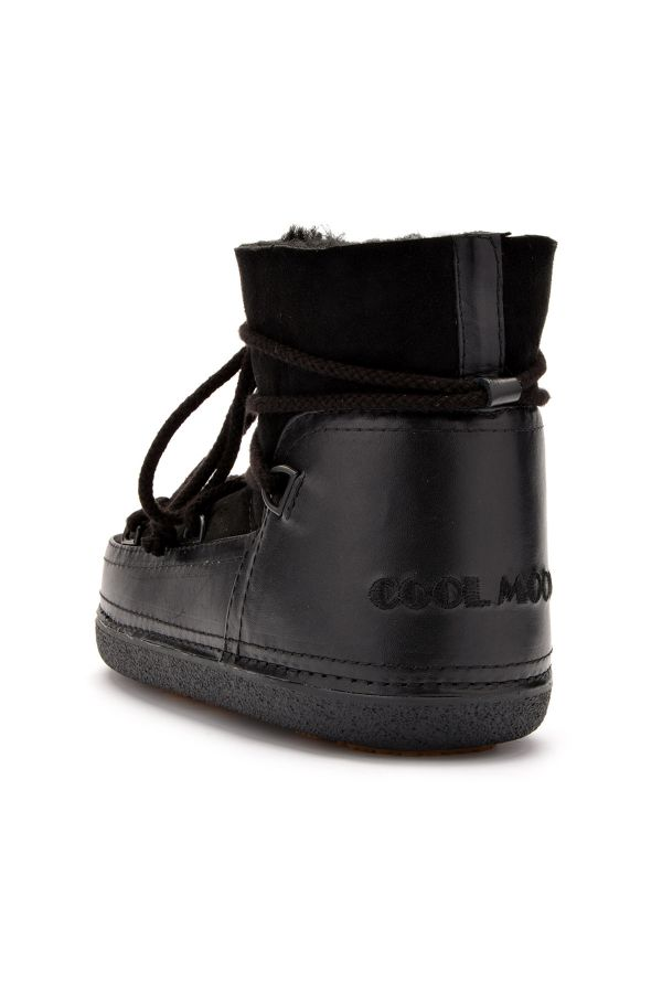 Cool Moon Women Snowboots From Genuine Fur Black