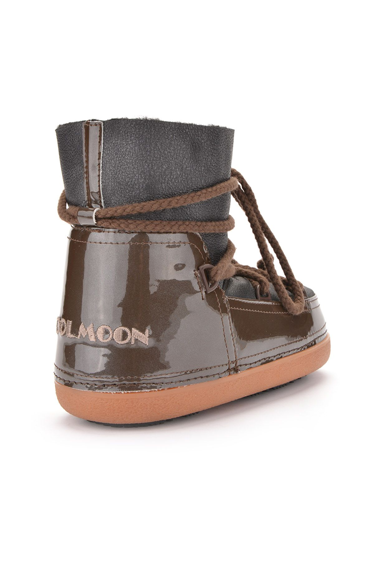 Cool Moon Women Snowboots From Genuine Fur Khaki