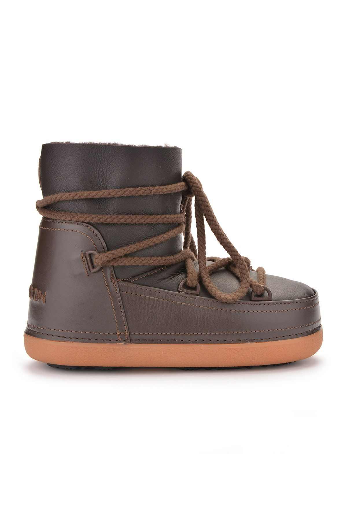 Cool Moon Women Snowboots From Genuine Fur Brown