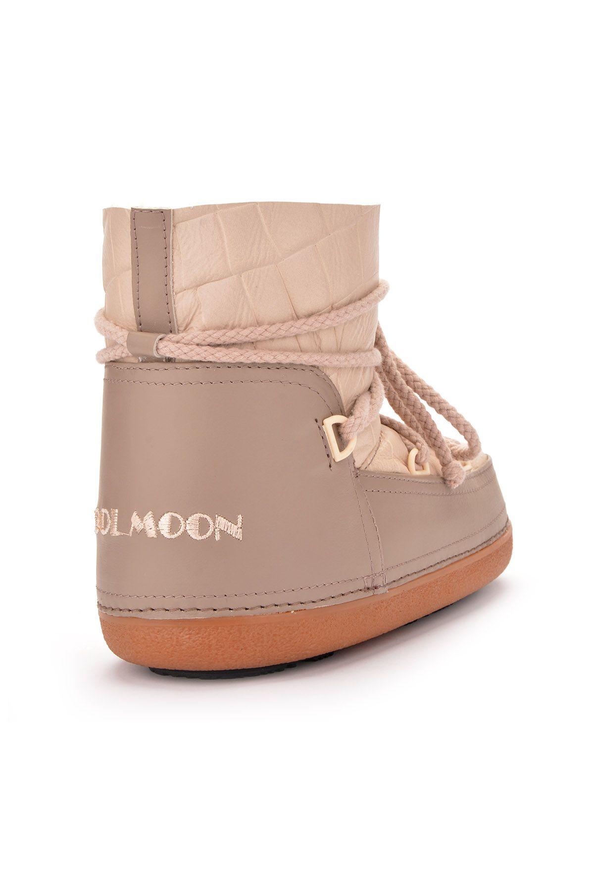 Cool Moon Women Snowboots From Genuine Fur Beige