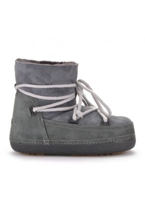 Cool Moon Women Snowboots From Genuine Fur Gray