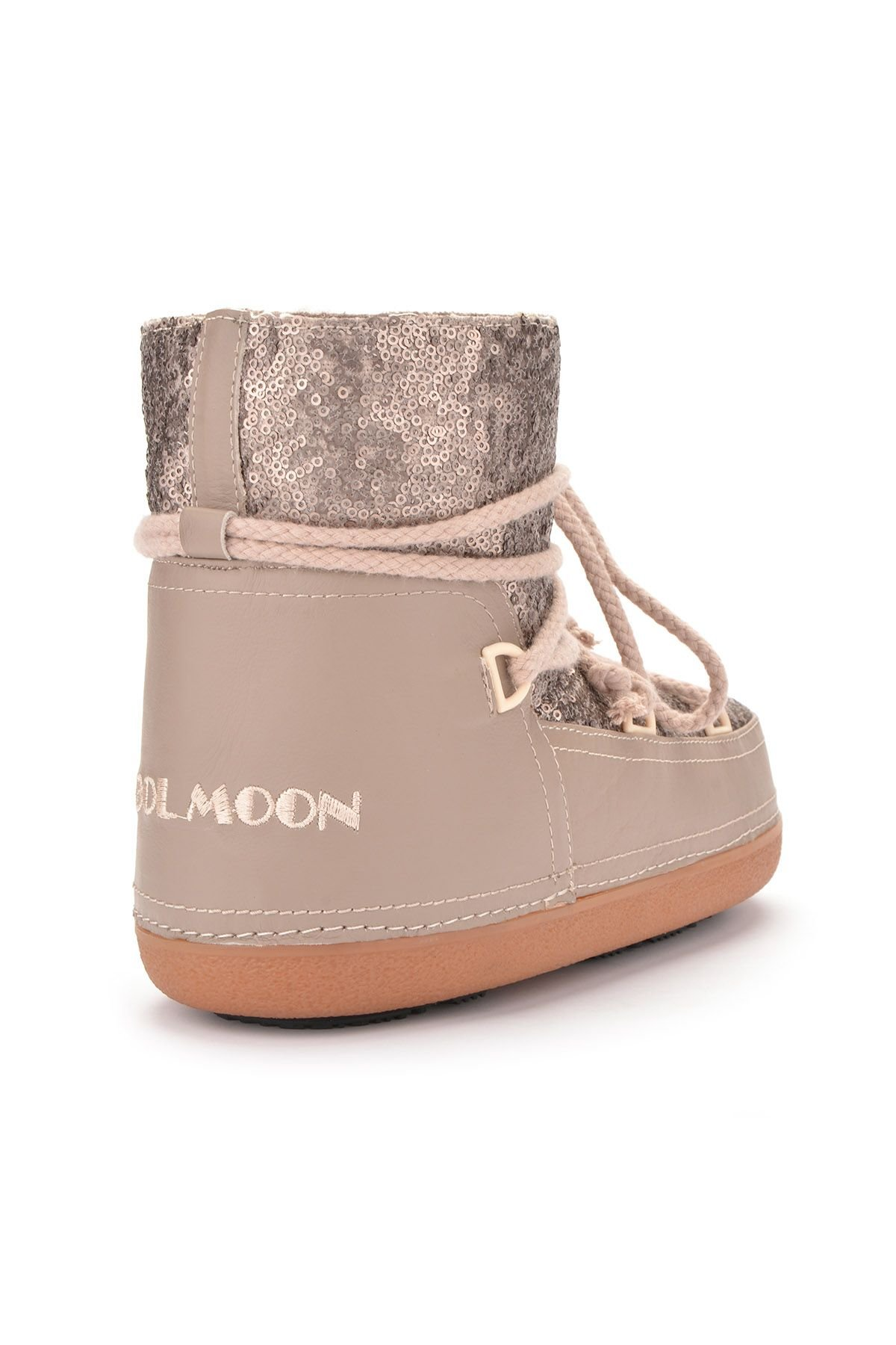 Cool Moon Women Snowboots From Genuine Fur With Sequins Mink