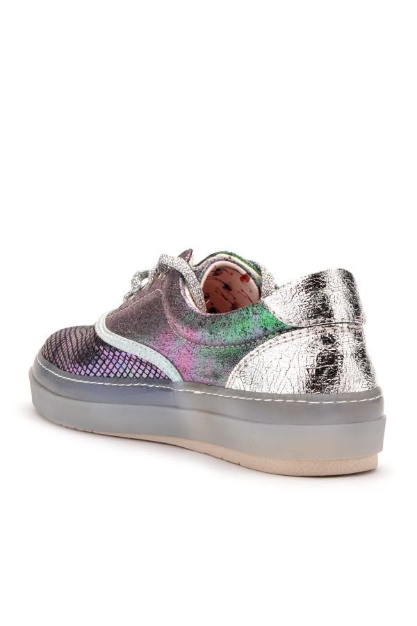 Art Goya Casual Women Shoes With Hologramme Green
