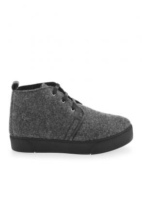 Art Goya Women Sneakers From Genuine Fur And Cashmere Light Gray