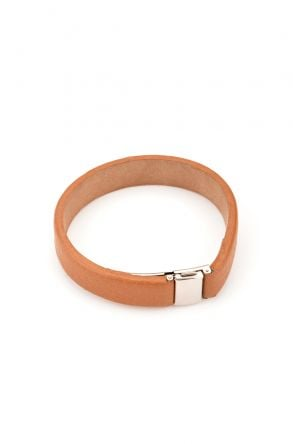Erdogan Deri Unisex Leather Bangle Cream