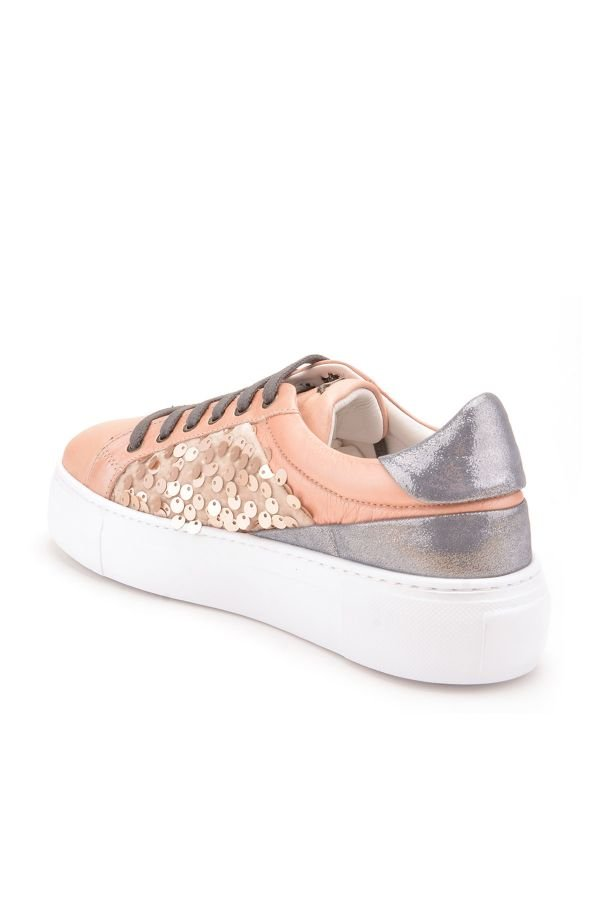 Pegia Blanche Sport Shoes From Genuine Leather Powdery