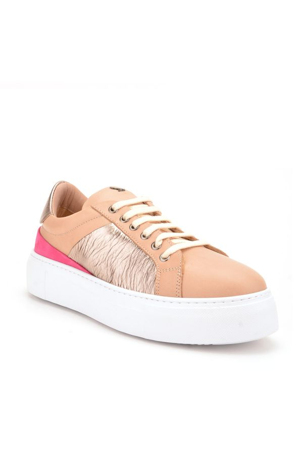Pegia Blanche Sport Shoes From Genuine Leather Cream