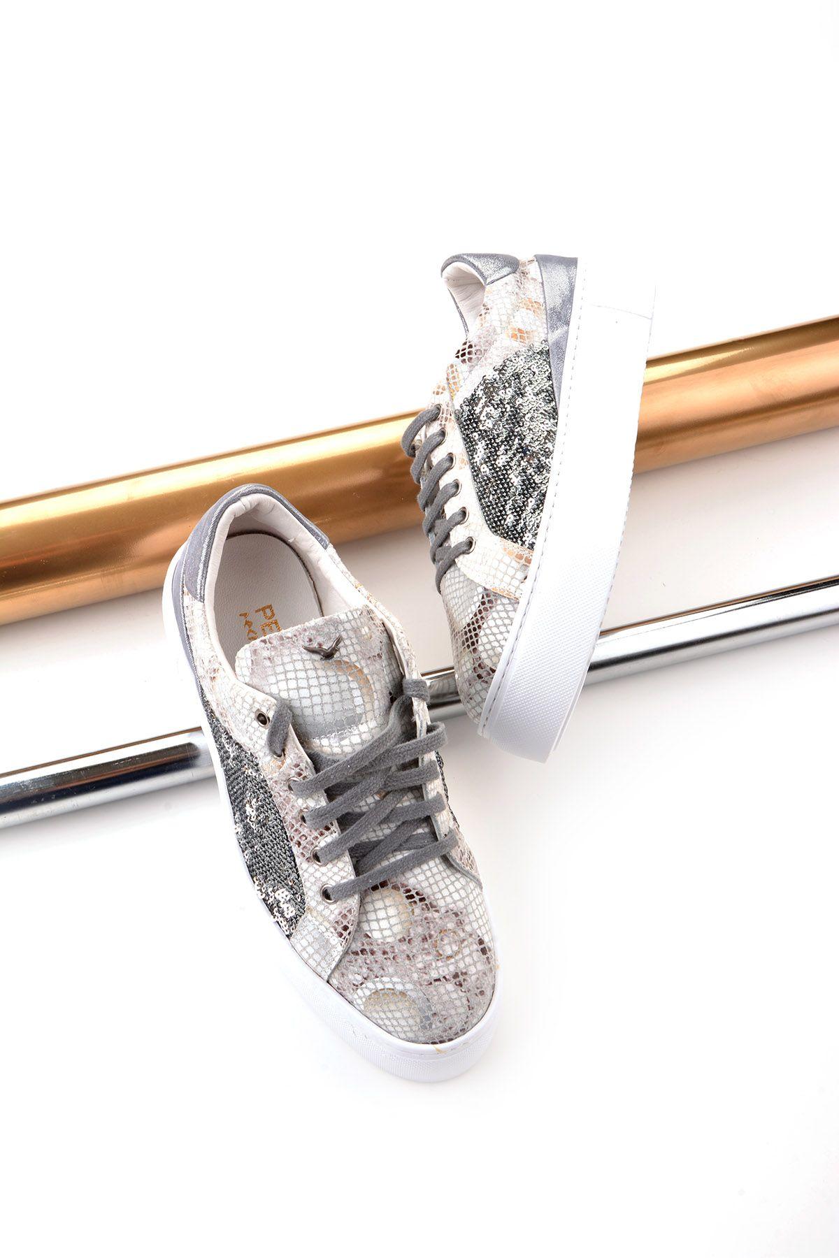 Pegia Blance Кроссовки Из Натуральной Кожи  REC-002 Белый
