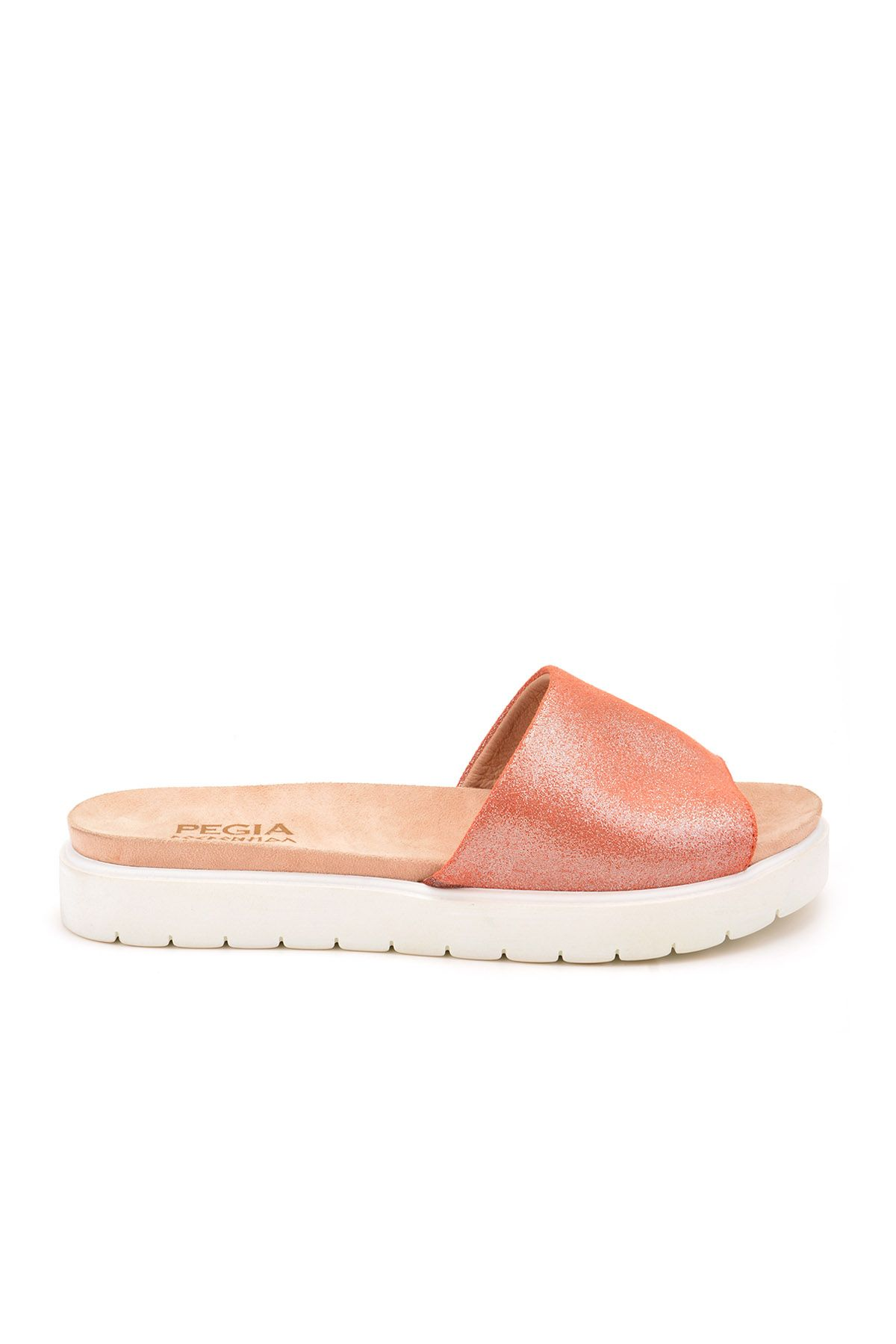 Pegia Drancy Women Slippers From Genuine Leather Pink