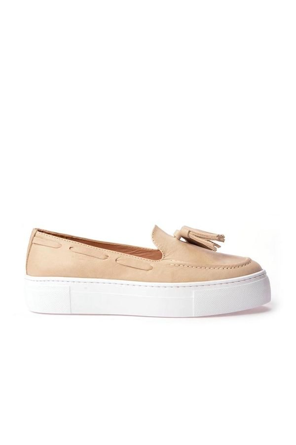 Pegia Pernety Casual Shoes From Genuine Leather Beige
