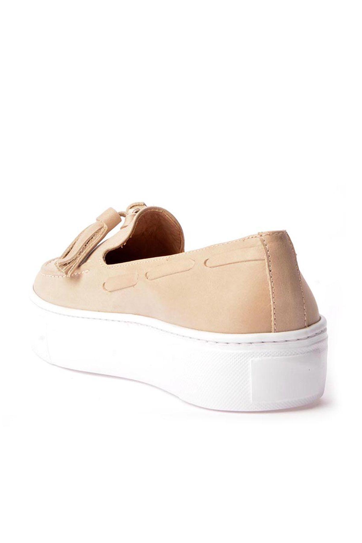 Pegia Pernety Hakiki Deri Günlük Ayakkabı  Bej
