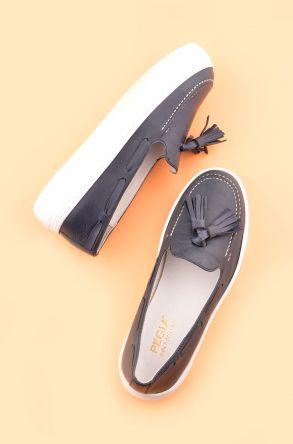 Pegia Pernety Casual Shoes From Genuine Leather REC-010 Navy blue