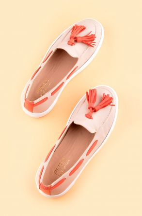 Pegia Pernety Casual Shoes From Genuine Leather REC-010 Cream