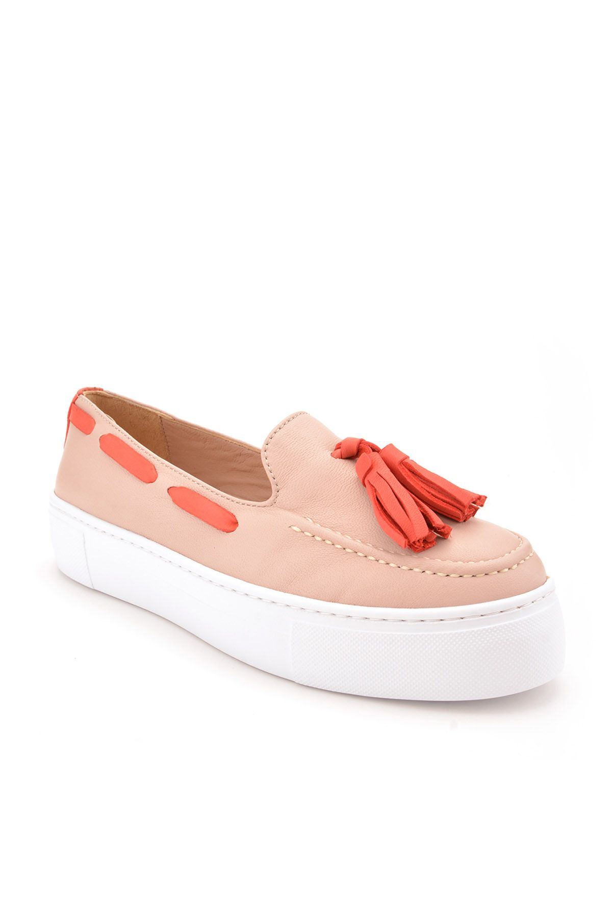 Pegia Pernety Casual Shoes From Genuine Leather Cream