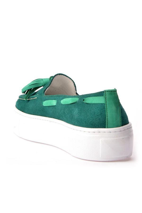 Pegia Pernety Туфли Из Натуральной Кожи  Зеленый