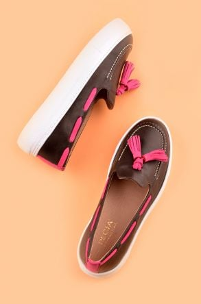 Pegia Pernety Casual Shoes From Genuine Leather REC-010 Brown