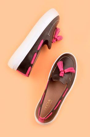 Pegia Pernety Hakiki Deri Günlük Ayakkabı Kahve