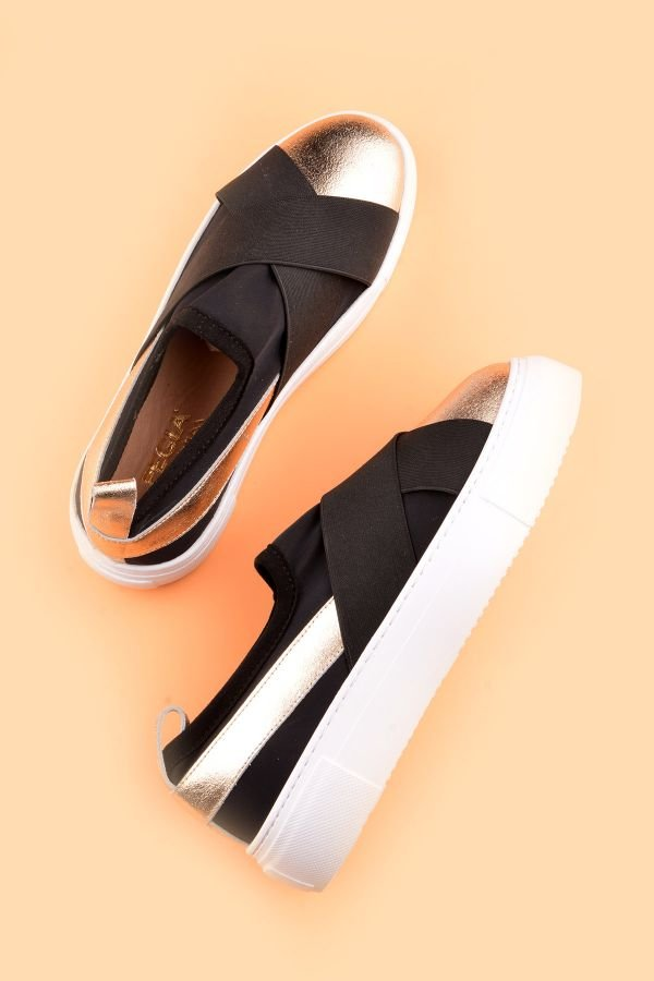 Pegia Voyage Casual Shoes From Genuine Leather Golden