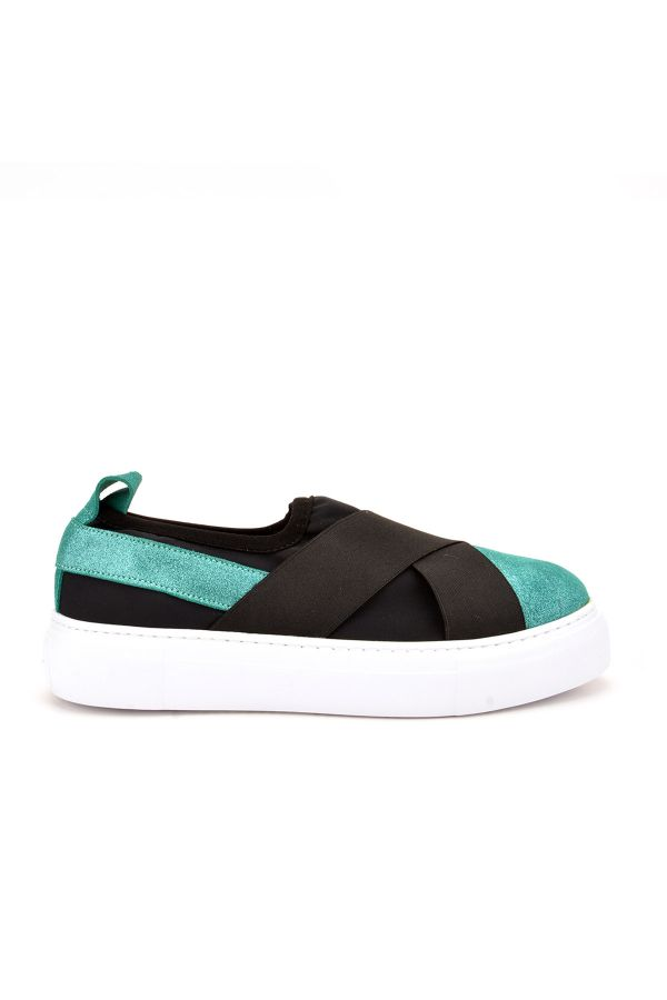 Pegia Voyage Casual Shoes From Genuine Leather Green