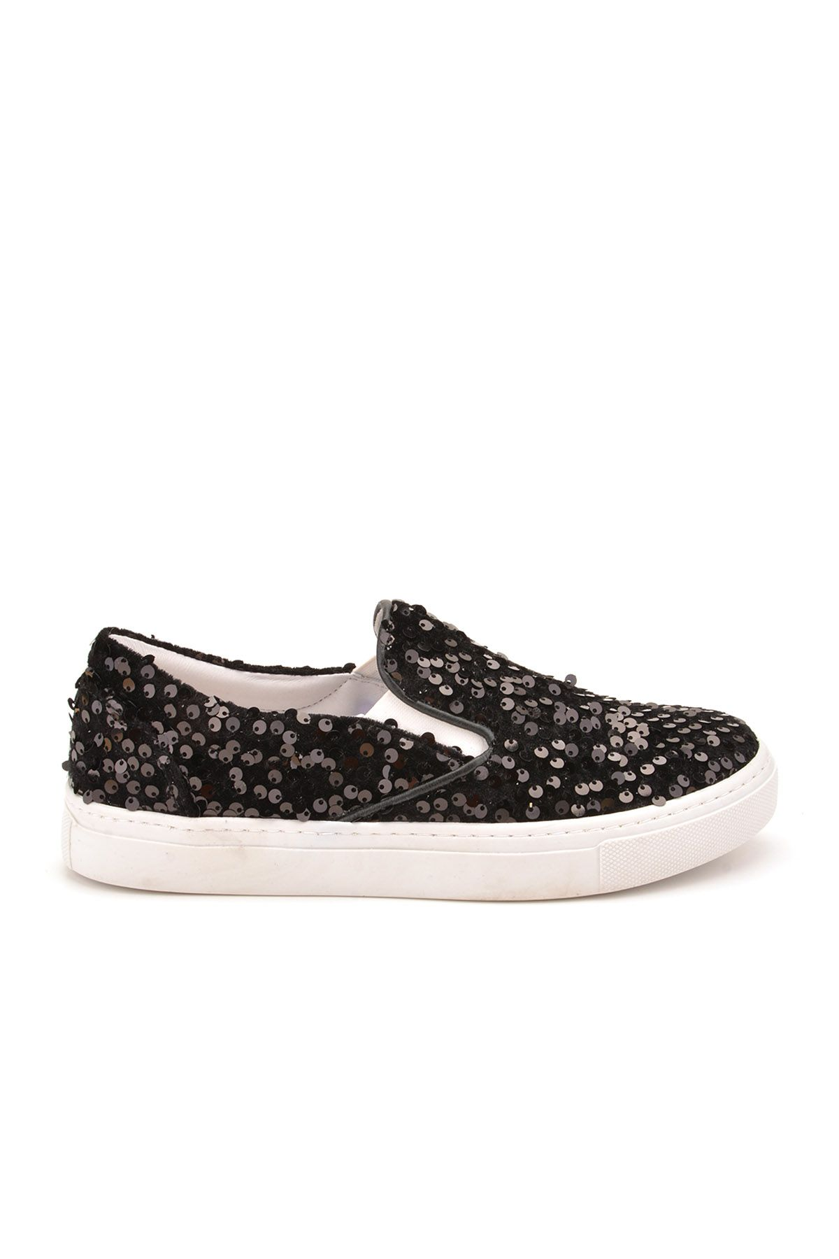 Pegia Sucre Sneakers From Genuine Leather Covered With Sequins Black