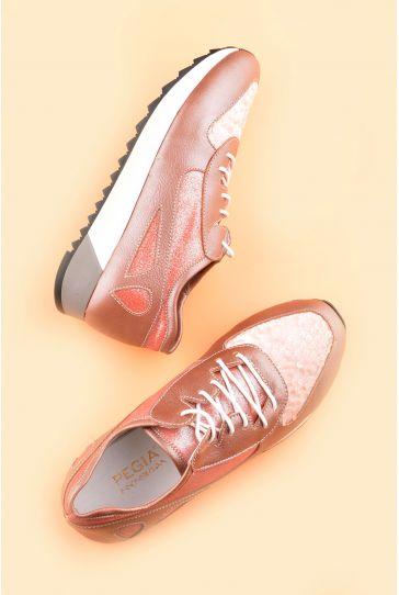 Pegia Anvers Кроссовки Из Натуральной Кожи Розовый
