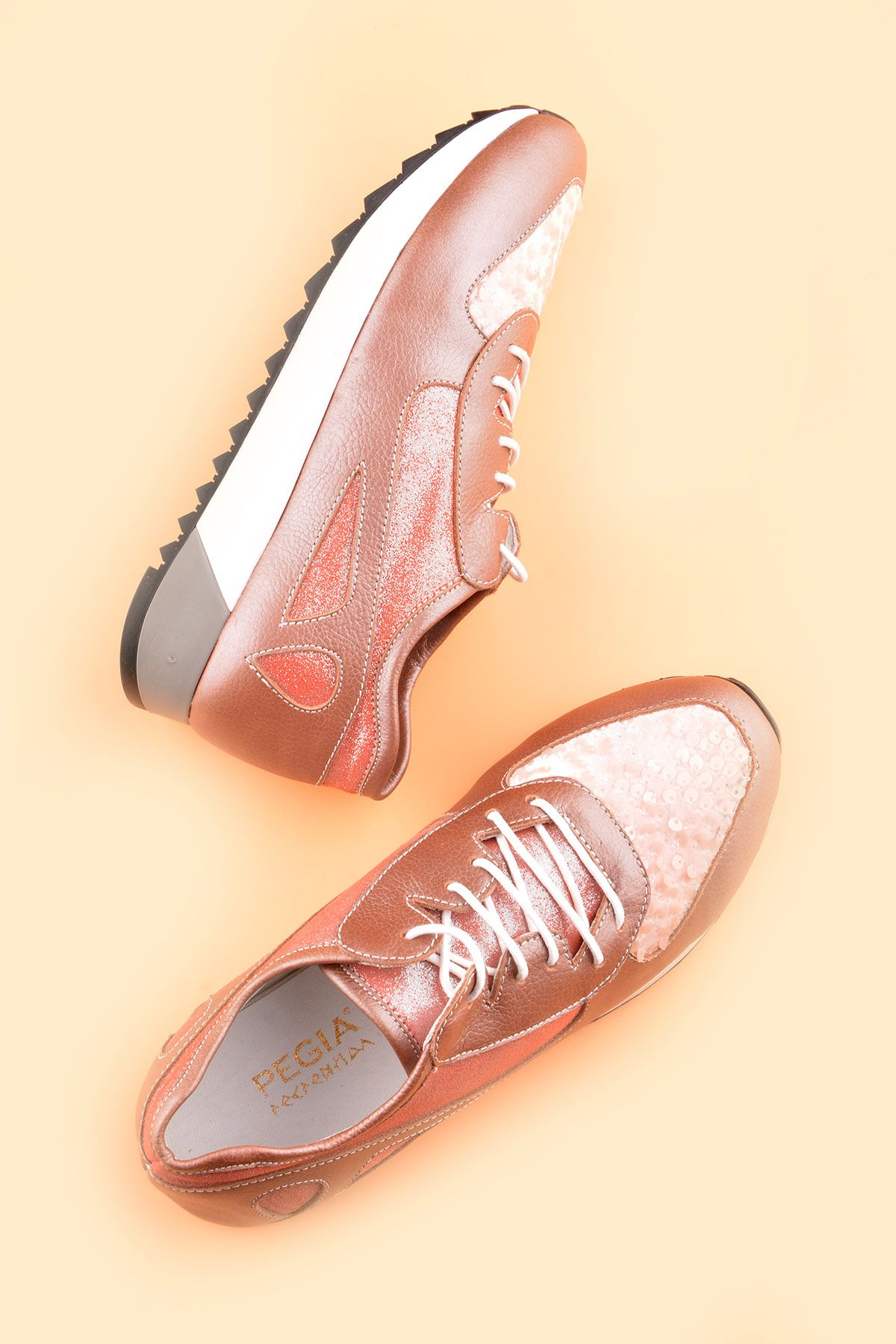 Pegia Anvers Sport Shoes From Genuine Leather Pink
