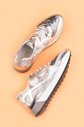 Pegia Anvers Sport Shoes From Genuine Leather Silver