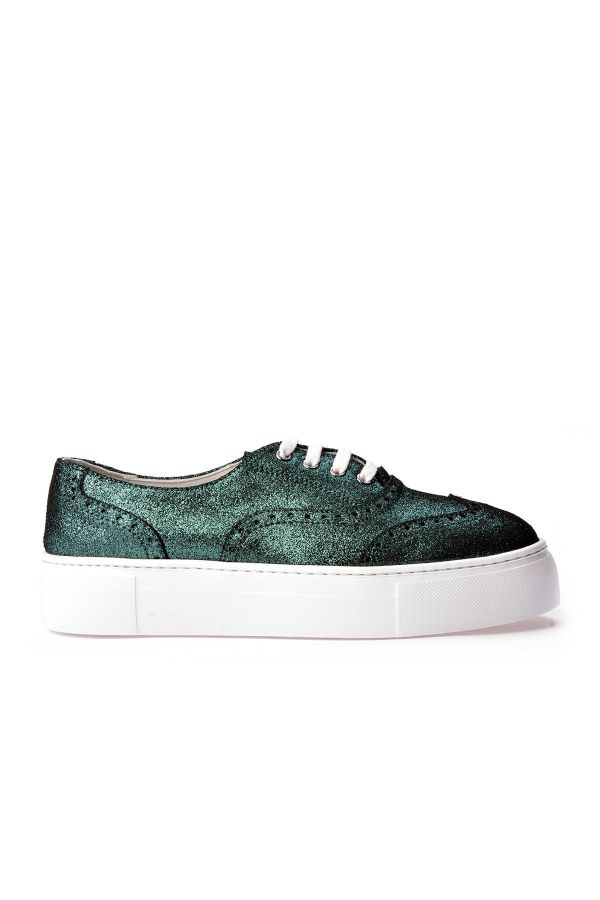 Pegia Chatalet Oxford Shoes From Genuine Leather Green