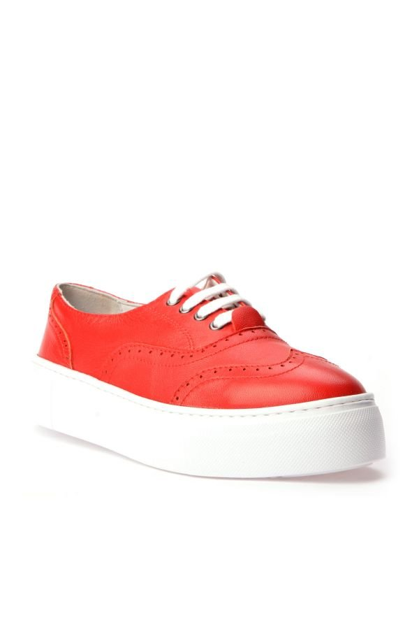 Pegia Chatalet Oxford Shoes From Genuine Leather Red