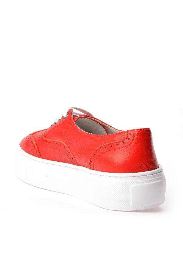 Pegia Chatalet Hakiki Deri Oxford Ayakkabı  Kırmızı