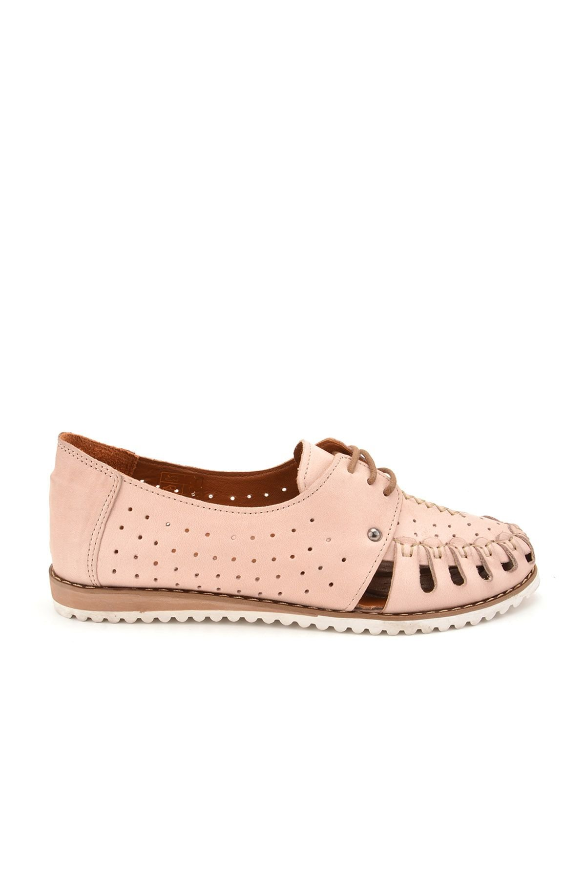 Pegia Lace Women Shoes From Genuine Leather Pink