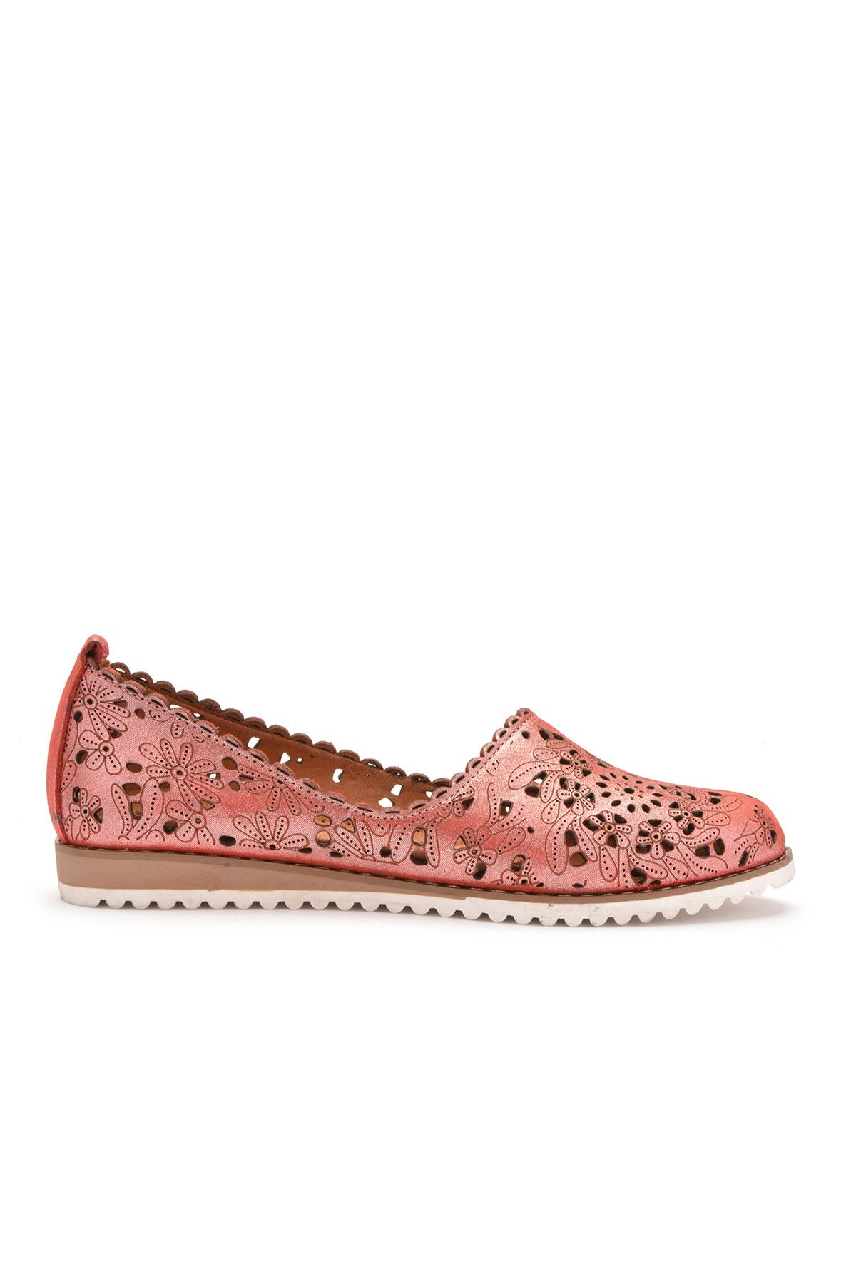 Pegia Women Shoes From Genuine Leather Magenta