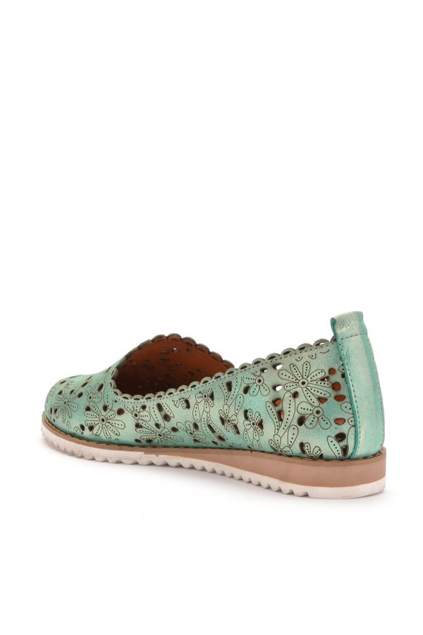 Pegia Women Shoes From Genuine Leather Green