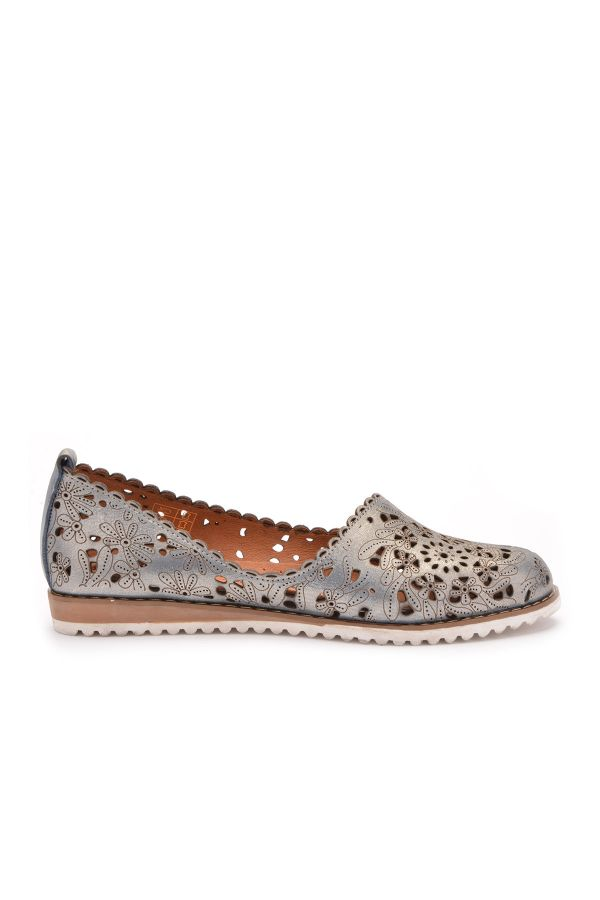 Pegia Women Shoes From Genuine Leather Gray