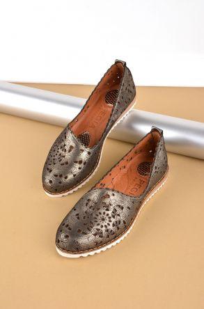 Pegia Hakiki Deri Kadın Ayakkabı Siyah