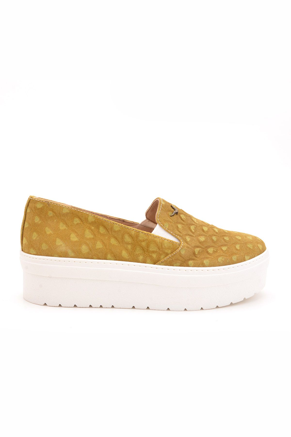 Art Goya High-Soled Women Sneakers From Genuine Suede Sand-colored